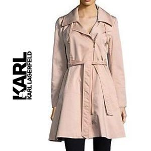 Karl Lagerfeld Zipped Trench